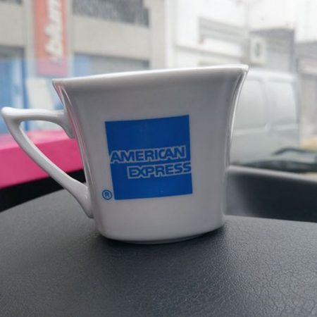 Tasse de café american express