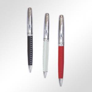 Stylo de Luxe métal et cuir -TC16125
