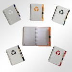 8867-note-book+pen-recycle-paper-c5-