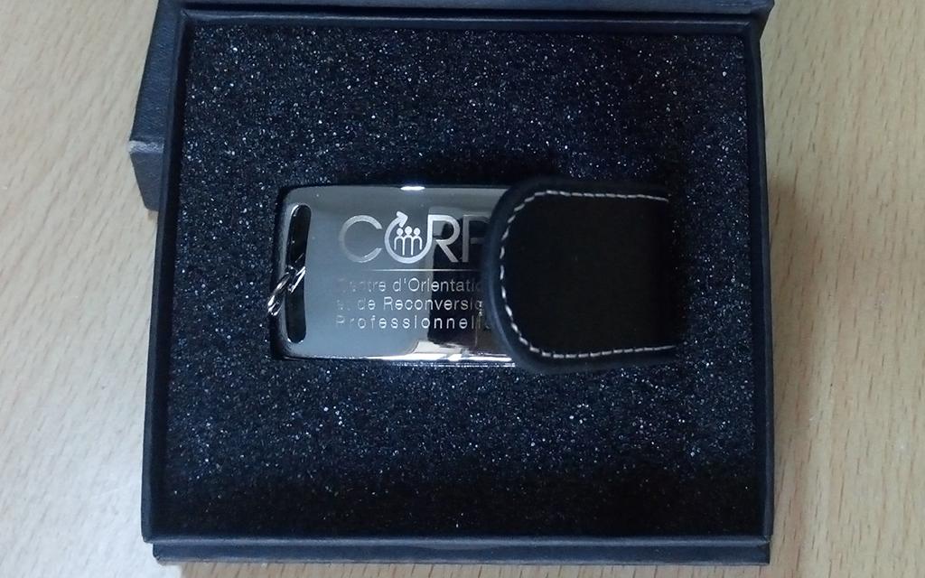 Clé usb CORP avec gravure laser
